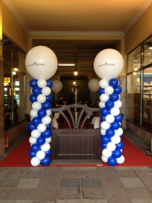 le club accor hotel_11.10.2012_décoration_colonne de ballons