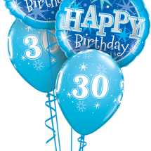 37919 44523 30th Bday Blue Sparkle Classic