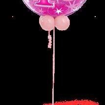 43125 40 Pink Sparkle Bubble