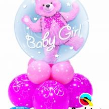 Baby Girl Bear Double Bubble Super