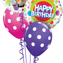 MyBalloon 41136 18650 Sarah Bday Colourful Dots Classic