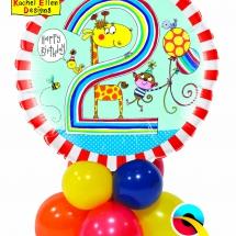 Rachel Ellen 2nd Birthday Giraffe Stripes Mini