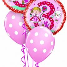 Rachel Ellen 3rd Birthday Princess Polka Dot Classic