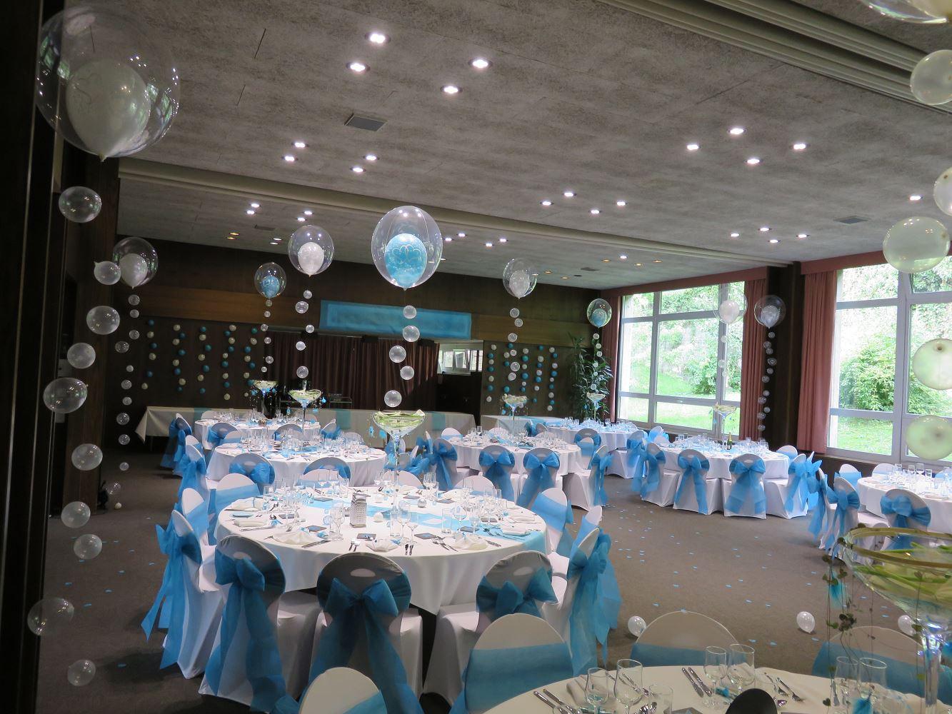 Deco Mariage Bleu Blanc Luxballoon
