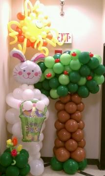 Colonne de ballons Pâques